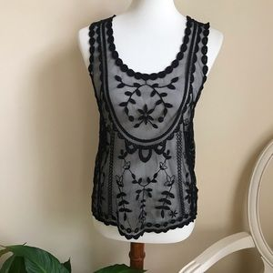 Candie's Black Lace Tank Top